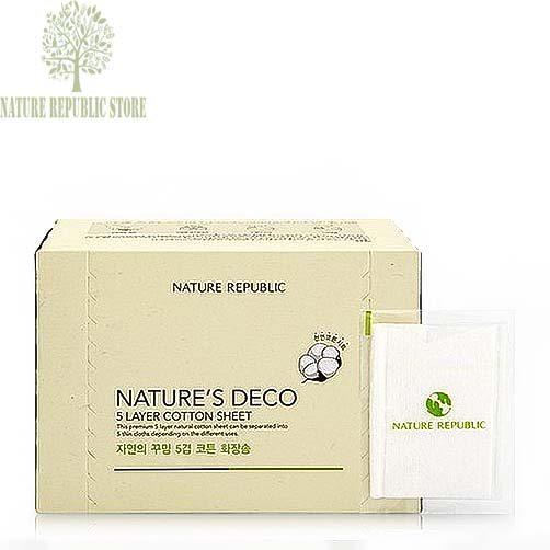 Bông Tẩy Trang Nature Republic Nature's Deco Natural Water Jet Cotton
