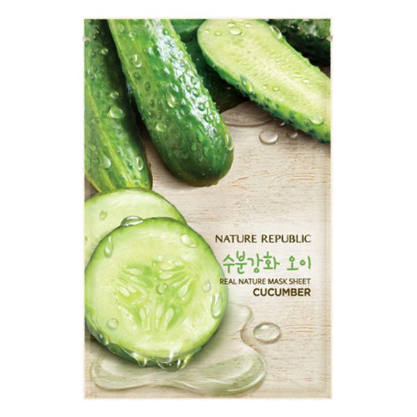 Combo 5 Mặt Nạ Dưa Leo Nature Republic Real Nature Cucumber Mask Sheet