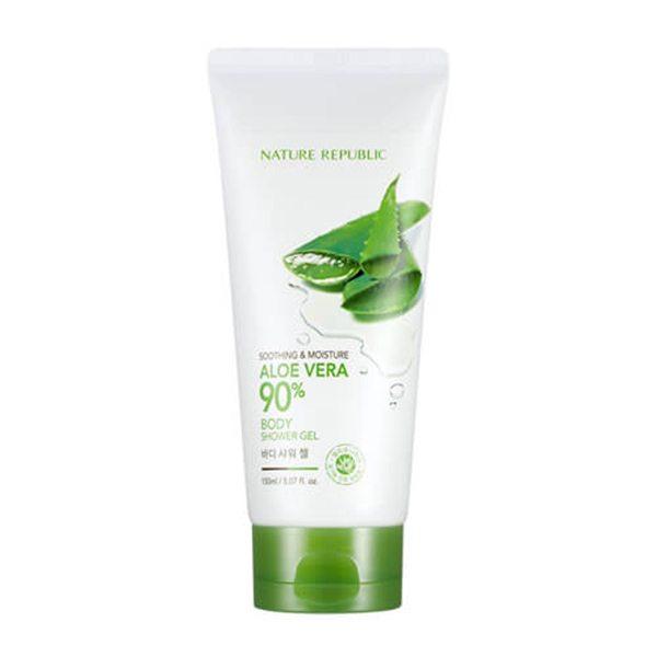 Gel Tắm Dưỡng Ẩm Soothing & Moisture Aloe Vera 90% Body Shower Gel