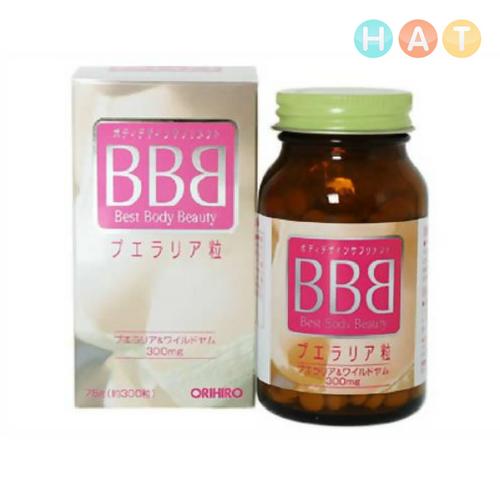 Thuốc Nở Ngực BBB ORIHIRO Hộp 300 Viên