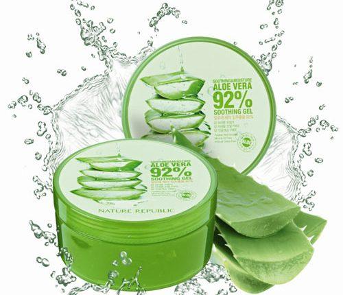 Nature Republic Soothing & Moisture Aloe Vera 92% Soothing Gel có thiết kế gây cảm giác tươi mát