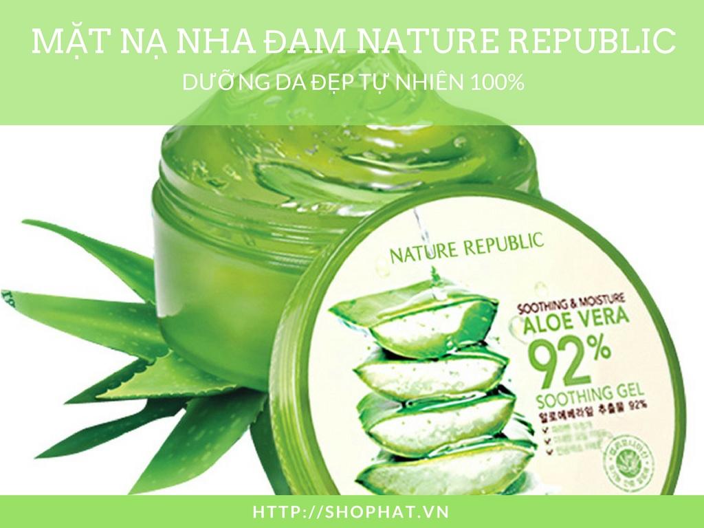 Mặt nạ nha đam Nature Republic thành phần 100% tự nhiên