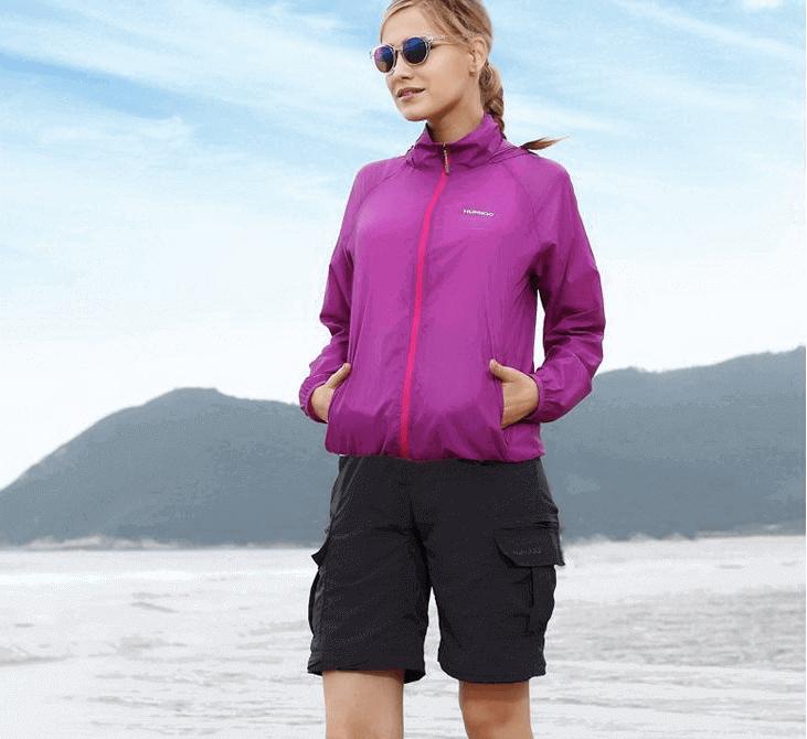 Áo Chống Nắng Nhật Uniqlo Vải Dù ( 75 Purple )