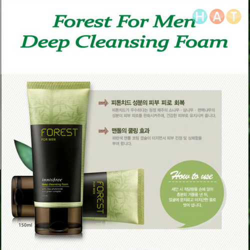 SRM Hàn Quốc Cho Nam Innisfree Forest For Men Cleansing Foam Fresh 150ml