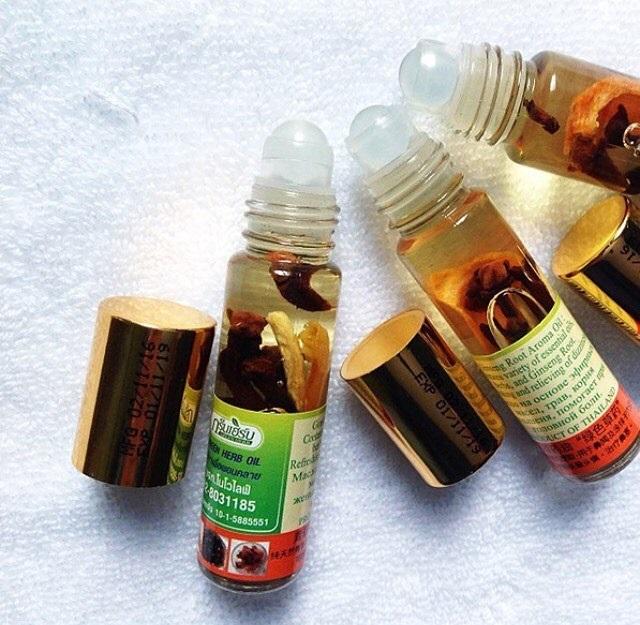Dầu gió thảo dược Green Herb oil Thailand 8ml mẫu 2018