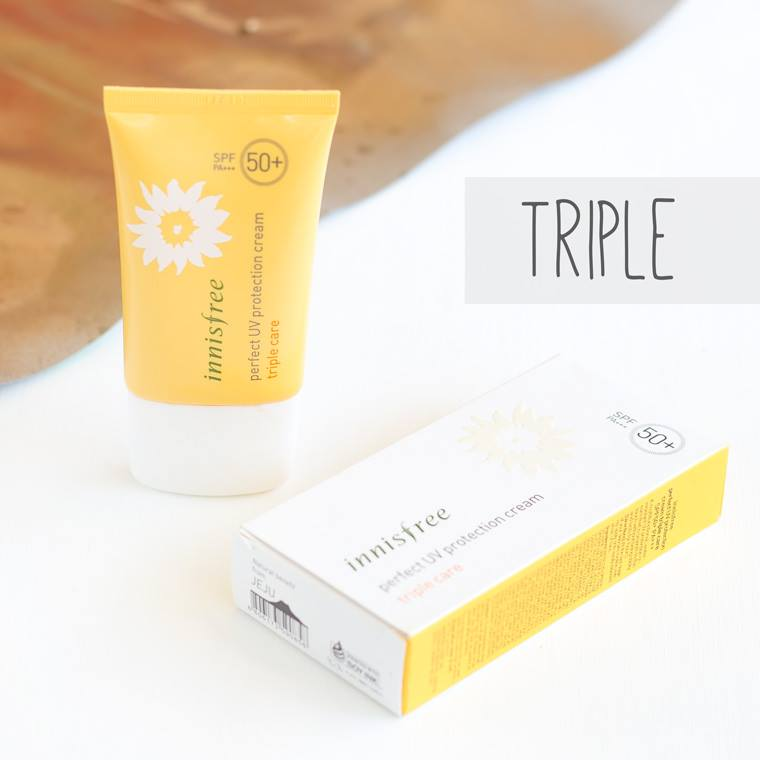 Kem chống nắng Innisfree perfect UV protection cream triple care