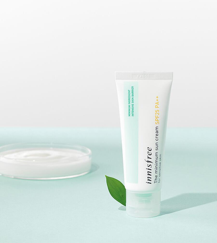 Kem chống nắng cho da nhạy cảm Innisfree - The Minimum Sun Cream SPF25 PA++