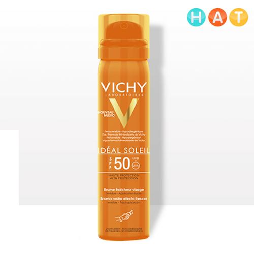 Xịt chống nắng Vichy giảm dầu không gây nhờn rít SPF 50+ 200ml