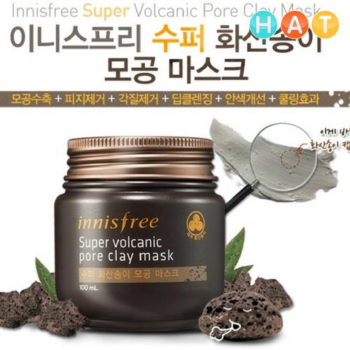 Mặt Nạ Innisfree Đất Sét Núi Lửa 100ml Super Volcanic Pore Clay Mask