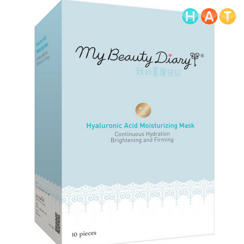 Mặt Nạ My Beauty Diaru Axit Hyaluronic Bạch Kim Cao Cấp 4 Miếng