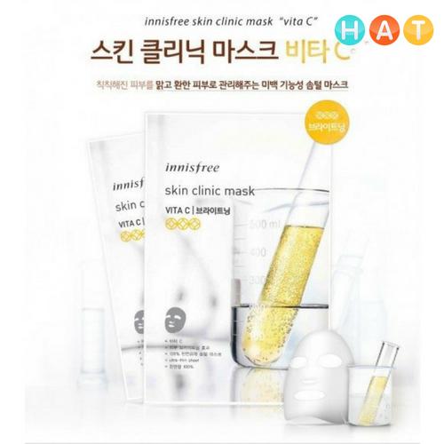 Mặt Nạ Innisfree Miếng Siêu Mỏng Làm Trắng Da Innisfree Skin Clinic Mask – Vita C