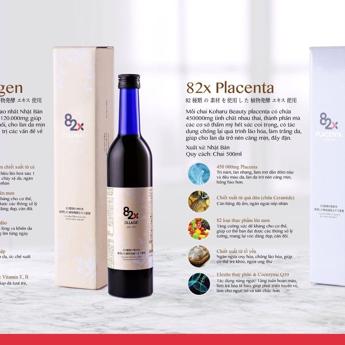 82X Placenta giảm nám và tàn nhang