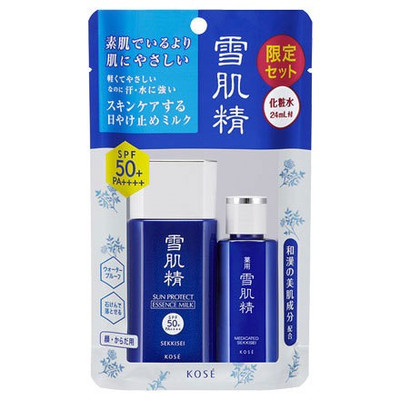 KCN Kose Sekkisei Sun Protect Milk/Gel SPF50+/PA++++{Kèm Quà Tặng}