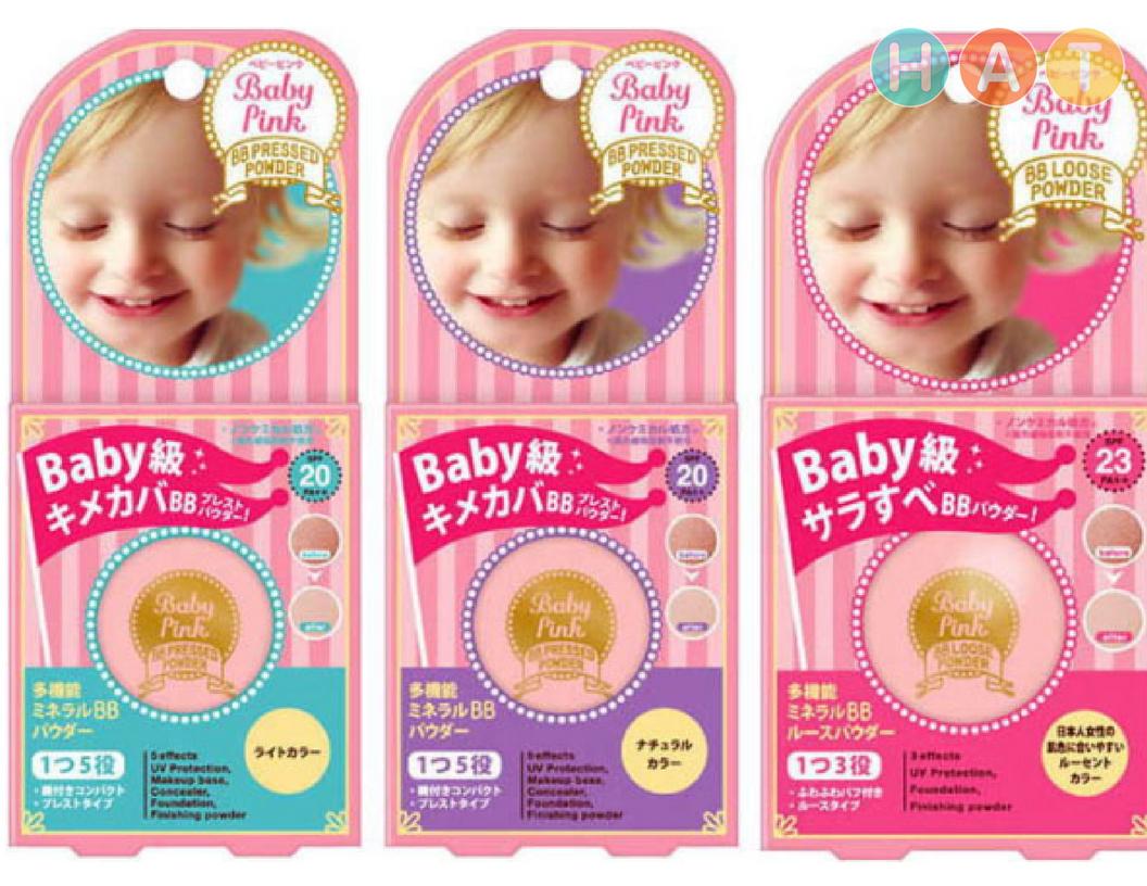 Phấn Baby Pink Mineral Pressed Powder (dùng cho da nhờn )