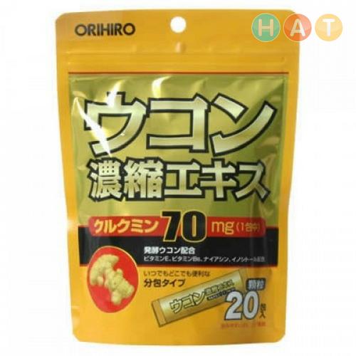 Bột Nghệ Giải Rượu Orihiro 20 Gói
