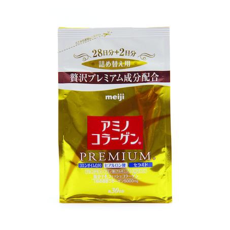 Collagen Meiji Premium Dạng Bột Màu Vàng 214g {Mẫu Mới}