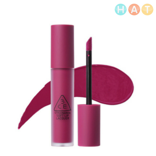Son 3CE Soft Lip Lacquer Almost Mauve –Tím Lạnh 6g