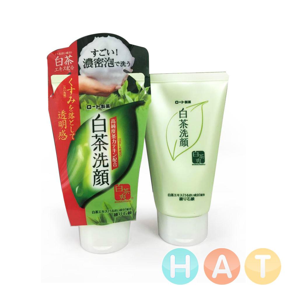 SRM trà xanh Rohto Shirochasou Green Tea Foam 120gam