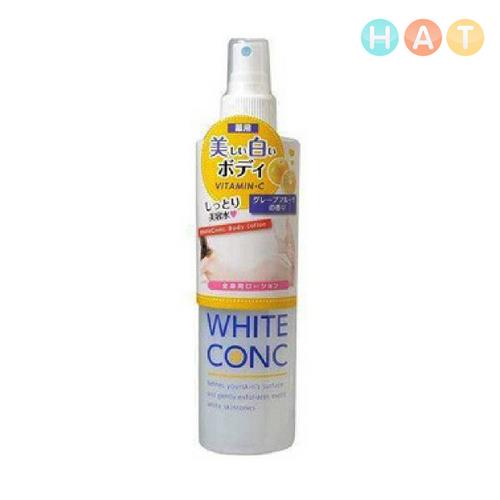 Lotion Xịt Dưỡng Trắng Da White Conc Vitamin C 245ml Nhật Bản