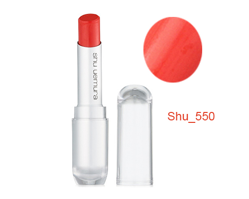Son Shu Uemura 550 Màu Đỏ Cam 3,4g Nhật Bản