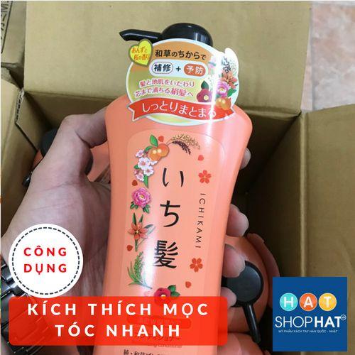 dầu-gội-trị-rụng-tóc-của-nhật-ichikami-màu-cam