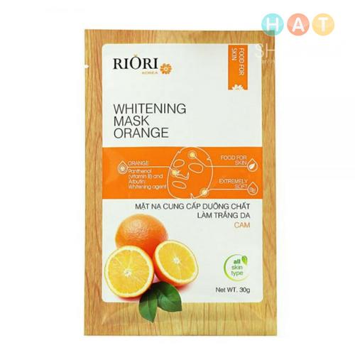 Mặt nạ dưỡng ẩm trắng da cam Riori Mask Orange